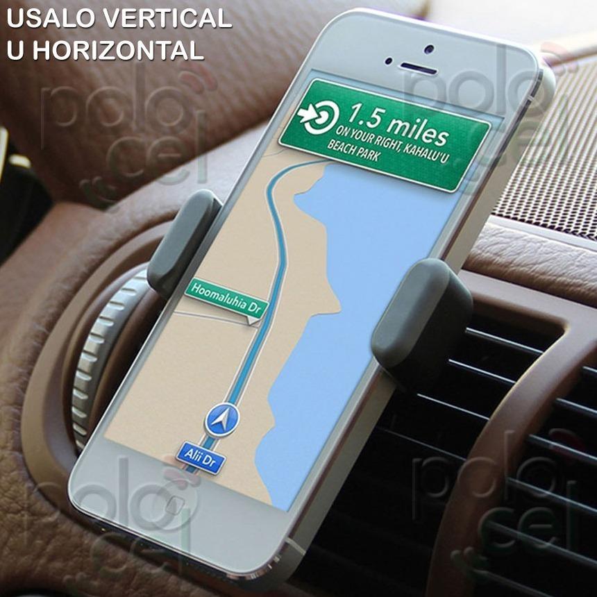 f5d63e2582b Soporte Auto Rejilla Aire iPhone 4 5 6 6s 7 8 Plus X Xr Xs - $ 119 ...