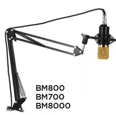 soporte base brazo micrófono condensador bm800 bm8000 bm700