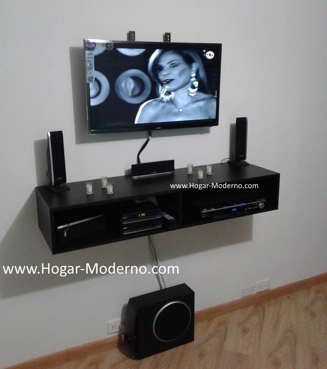 Soporte base flotante para tv 120cm en mercado for Mueble soporte tv