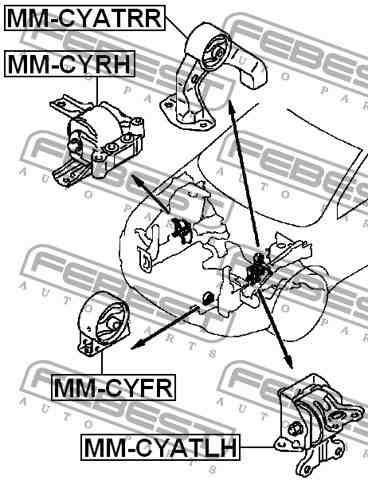 soporte base motor derecha rh caliber compass mm-cyrh 06-13
