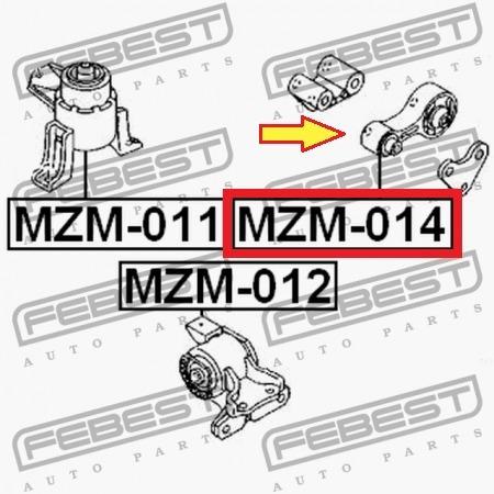 soporte base trasero motor mazda 6 2.3 l  febest alemana