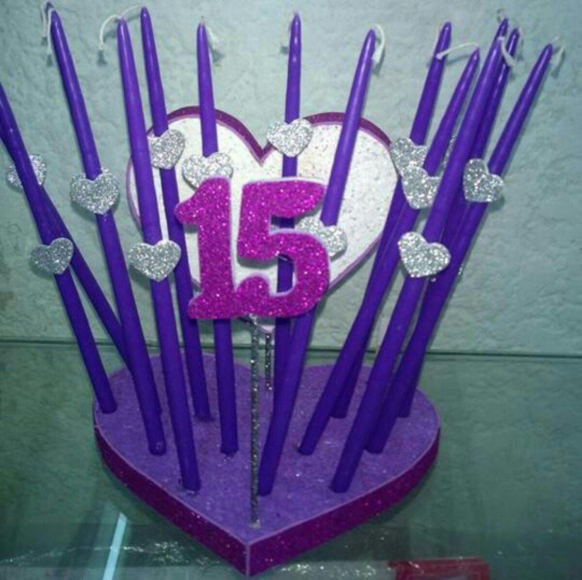 Soporte base velas de 15 a os 300 00 en mercado libre - Soporte para velas ...