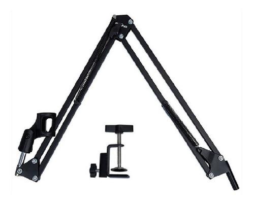 soporte brazo articulado pie de mesa para mic condensador