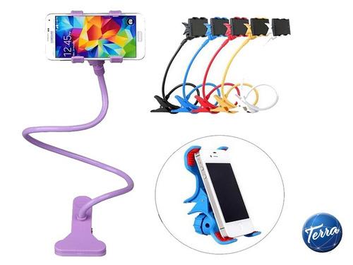 soporte brazo flexible celular ebook cama escritorio