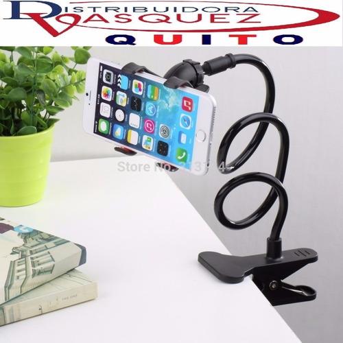 soporte brazo flexible para celular en escritorio, cama todo