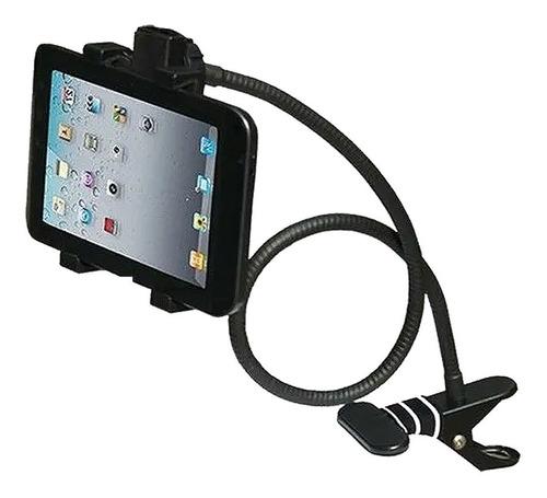 soporte brazo flexible para tablet pinza de metal