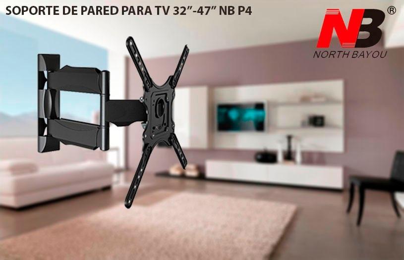 Soporte brazo tv base de pared de 32 55 nb p4 north for Soporte tv pared