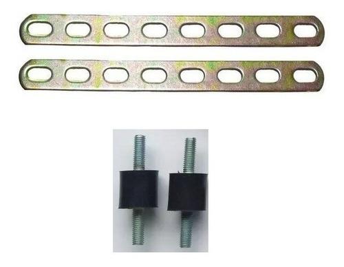soporte + bujes para rampa inyectores gnc 5ta generación