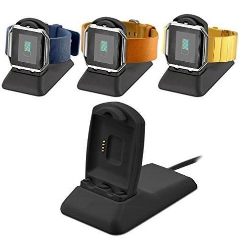 soporte cargador elobeth para relojes fitbit blaze