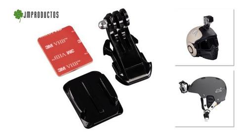 soporte casco moto o bici gopro hero 7 6 5 4 3+ 3 2 1 sjcm