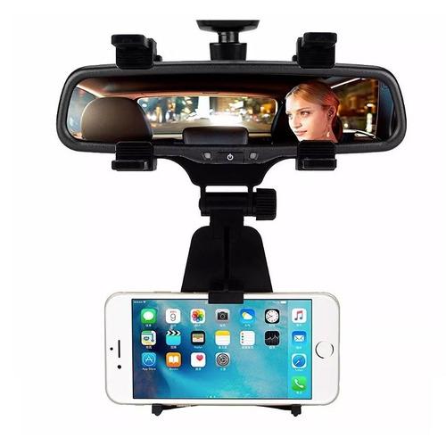 soporte celular auto espejo retrovisor uber sujetador