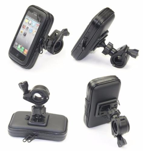 soporte celular bicicleta moto impermeable, iphone, samsung