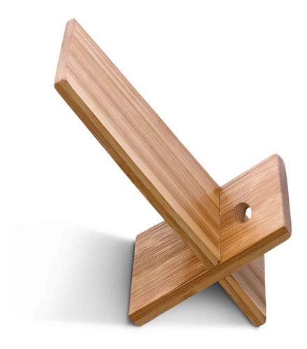 soporte celular en madera holder