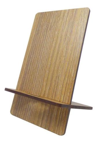 soporte celular en mdf holder parece madera