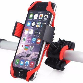 soporte celular / gps para bicis y motos rojo kube kbsop010r