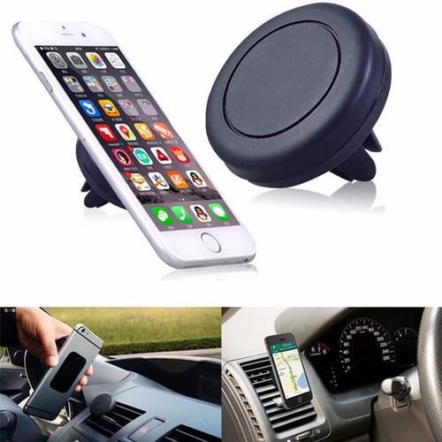 soporte celular magnético rejilla para carro iphone samsung