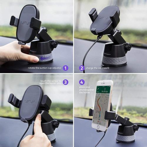 soporte celular para auto - tablero o parabrisas automatico