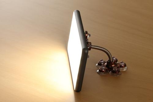 soporte celular smartphone tablet led ventosas pie phottix