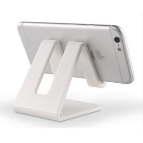Soporte Celular, Tablet Para Escritorio Blanco