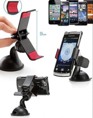 soporte celular universal gps auto pinza calidad + envio