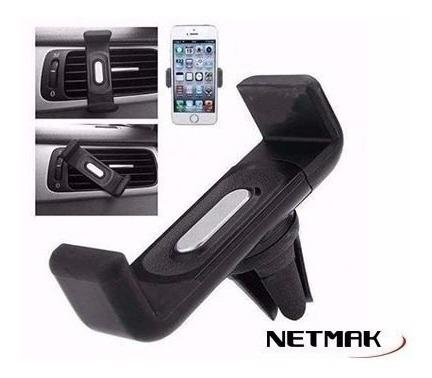 soporte celular universal p/rejilla aire auto nm-hc13 netmak