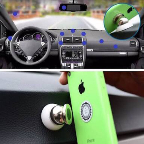 soporte celulares iman autos gira 360 iphone 6 samsung j7 lg