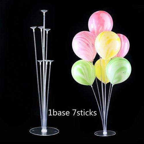 soporte centro de mesa para 7  globos 74 cm alto tu mundo