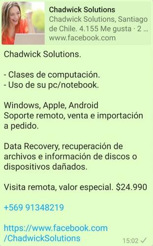 soporte chadwick pc apple clases windows mac
