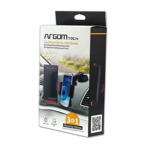 soporte coche para teléfonos celulares 3 en 1 icb tech