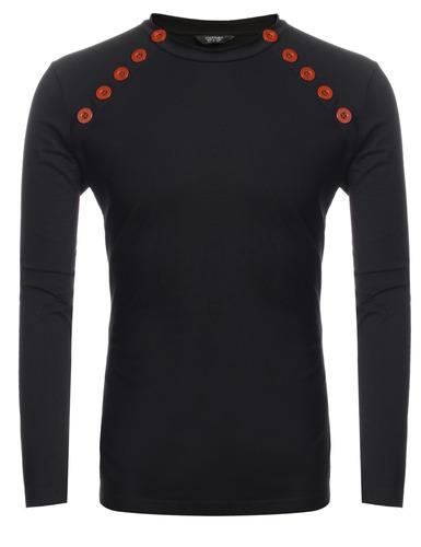 soporte collar doble breasted sólido suéter delgado t cami