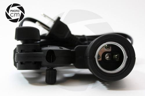 soporte con socket para flash esclavo/ lampara de estudio
