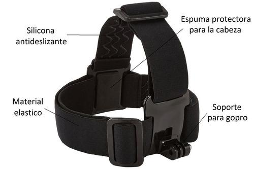 soporte correa arnes banda cabeza casco para gopro