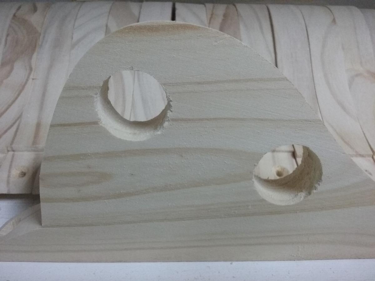 Soporte cortina doble en madera 60 00 en mercado libre for Soporte para cortinas