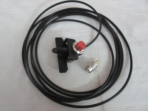 soporte de antena  1/2 movible con cable para bc, vhf, uhf