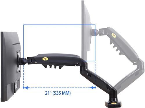 soporte de brazo monitor a escritorio nb f80 17 a 27