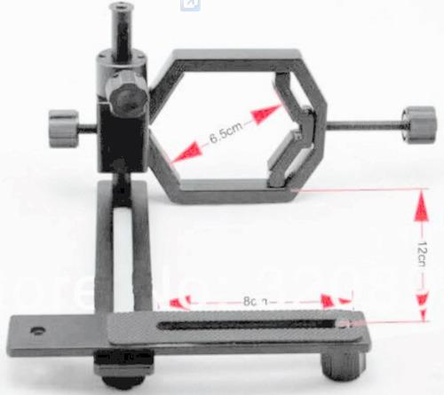 soporte de camara o celular para mira telescopica, binocular