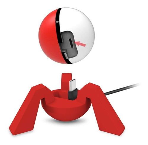 soporte de carga nintendo switch pokemon go poke bola