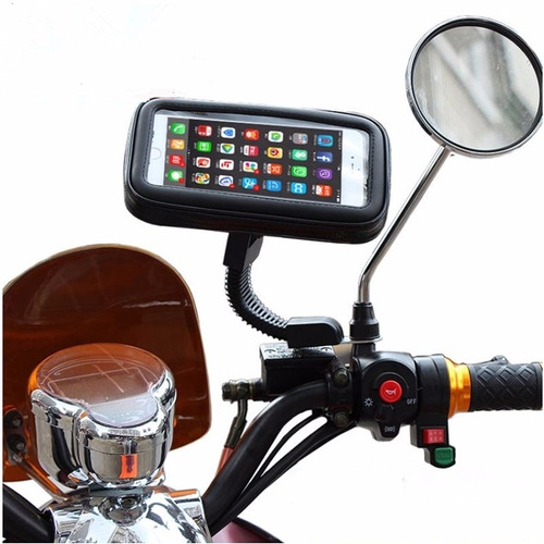 soporte de celular motocicleta contra agua gps 6 pulgadas en mercado libre. Black Bedroom Furniture Sets. Home Design Ideas