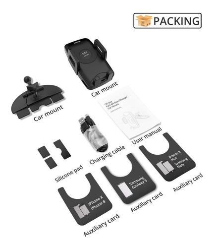 soporte de celular para auto - mpow - para cd carga inalam.