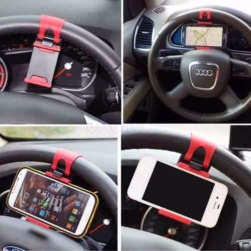 soporte de celular para volante de carro 100% seguro inc iva