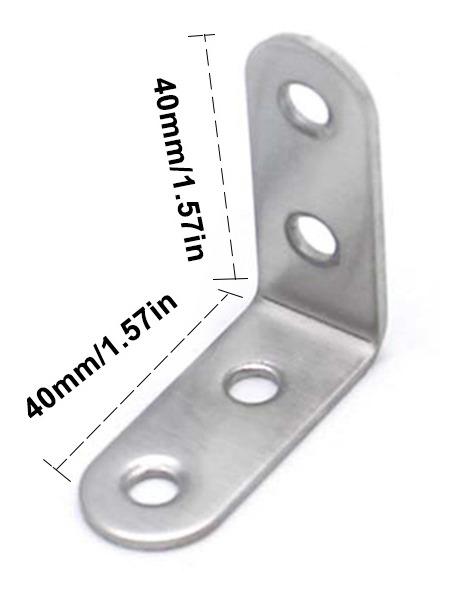 mesa de armario soporte en L para estante de madera f/ácil de instalar BE-TOOL Soporte de acero inoxidable no tornillos plateado soporte de /ángulo duradero