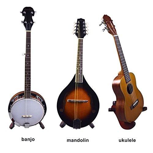 soporte de instrumentos de madera para ukelele, violín y m