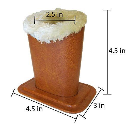 soporte de lentes titular de la caja, peluche forrado prote