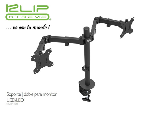 soporte de mesa doble monitor tv 13 a 32 ' gira rota inclina