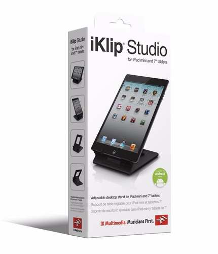 soporte de mesa ipad y tablets ik multimedia iklip studio mini - cuotas