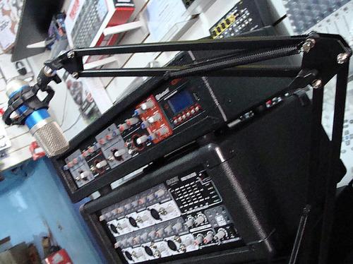 soporte de mesa para micrófono de estudio brazo articulado