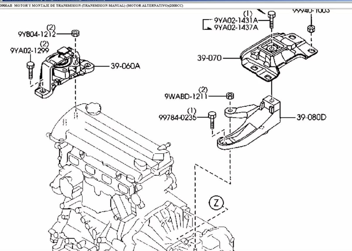 soporte de motor distribucion derecho mazda 3 2 0 cc
