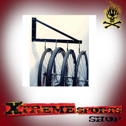 soporte de pared para 4 bicicletas