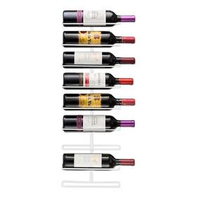 Soporte De Pared Para 9 Botellas Vino Blanco Mikasastore