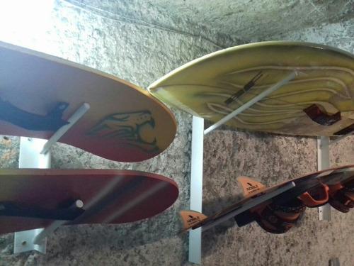 soporte de pared para tablas surf, kitesurf, stand up paddle